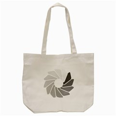 Flower Transparent Shadow Grey Tote Bag (cream) by Alisyart