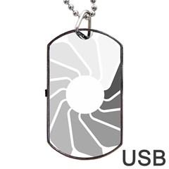 Flower Transparent Shadow Grey Dog Tag Usb Flash (two Sides) by Alisyart