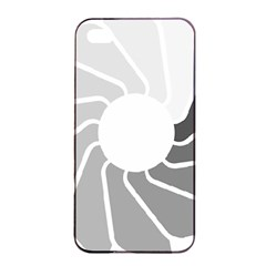 Flower Transparent Shadow Grey Apple Iphone 4/4s Seamless Case (black) by Alisyart