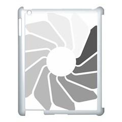 Flower Transparent Shadow Grey Apple Ipad 3/4 Case (white) by Alisyart