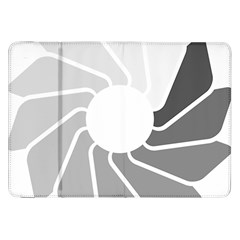 Flower Transparent Shadow Grey Samsung Galaxy Tab 8 9  P7300 Flip Case by Alisyart