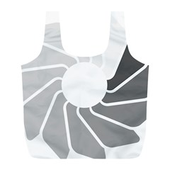 Flower Transparent Shadow Grey Full Print Recycle Bags (l)  by Alisyart