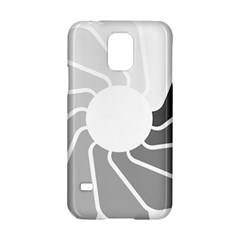 Flower Transparent Shadow Grey Samsung Galaxy S5 Hardshell Case  by Alisyart