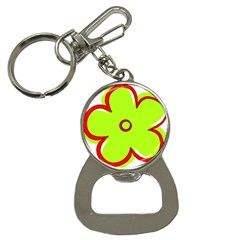 Flower Floral Red Green Button Necklaces by Alisyart