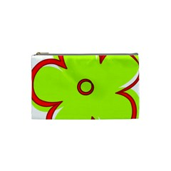 Flower Floral Red Green Cosmetic Bag (small)  by Alisyart