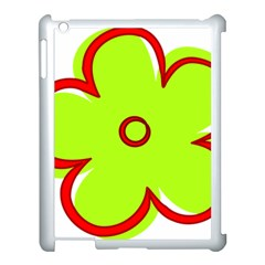 Flower Floral Red Green Apple Ipad 3/4 Case (white) by Alisyart