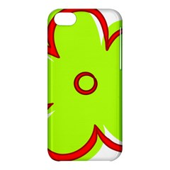 Flower Floral Red Green Apple Iphone 5c Hardshell Case by Alisyart