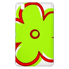Flower Floral Red Green Samsung Galaxy Tab Pro 8 4 Hardshell Case by Alisyart