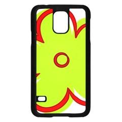 Flower Floral Red Green Samsung Galaxy S5 Case (black) by Alisyart