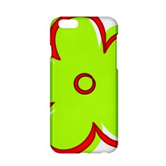 Flower Floral Red Green Apple Iphone 6/6s Hardshell Case by Alisyart