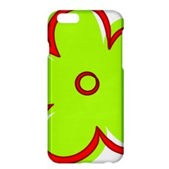 Flower Floral Red Green Apple Iphone 6 Plus/6s Plus Hardshell Case by Alisyart