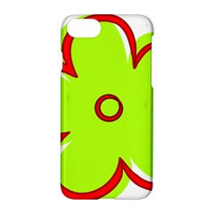 Flower Floral Red Green Apple Iphone 7 Hardshell Case by Alisyart