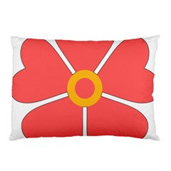 Flower With Heart Shaped Petals Pink Yellow Red Pillow Case by Alisyart