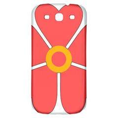 Flower With Heart Shaped Petals Pink Yellow Red Samsung Galaxy S3 S Iii Classic Hardshell Back Case by Alisyart