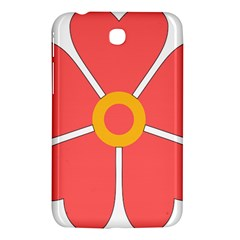 Flower With Heart Shaped Petals Pink Yellow Red Samsung Galaxy Tab 3 (7 ) P3200 Hardshell Case  by Alisyart