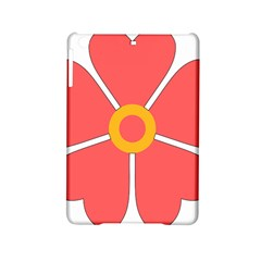 Flower With Heart Shaped Petals Pink Yellow Red Ipad Mini 2 Hardshell Cases by Alisyart