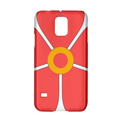 Flower With Heart Shaped Petals Pink Yellow Red Samsung Galaxy S5 Hardshell Case  by Alisyart