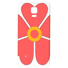 Flower With Heart Shaped Petals Pink Yellow Red Galaxy Note 4 Back Case by Alisyart