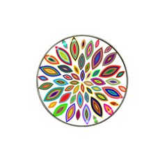 Chromatic Flower Petals Rainbow Hat Clip Ball Marker (4 Pack) by Alisyart