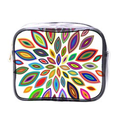 Chromatic Flower Petals Rainbow Mini Toiletries Bags by Alisyart