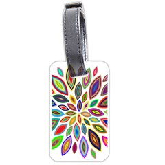Chromatic Flower Petals Rainbow Luggage Tags (one Side)  by Alisyart