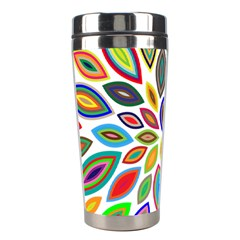 Chromatic Flower Petals Rainbow Stainless Steel Travel Tumblers by Alisyart