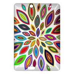 Chromatic Flower Petals Rainbow Amazon Kindle Fire Hd (2013) Hardshell Case by Alisyart