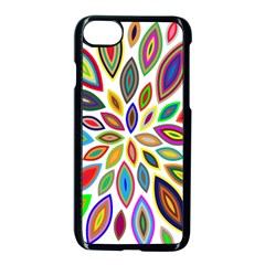 Chromatic Flower Petals Rainbow Apple Iphone 7 Seamless Case (black) by Alisyart