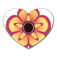 Flower Floral Hole Eye Star Heart Mousepads by Alisyart