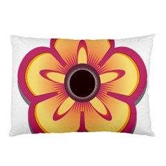 Flower Floral Hole Eye Star Pillow Case by Alisyart