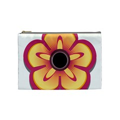 Flower Floral Hole Eye Star Cosmetic Bag (medium)  by Alisyart