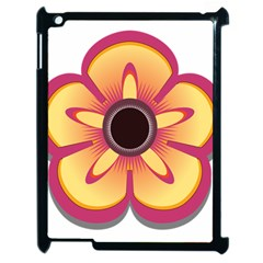 Flower Floral Hole Eye Star Apple Ipad 2 Case (black) by Alisyart