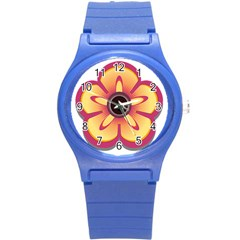 Flower Floral Hole Eye Star Round Plastic Sport Watch (s) by Alisyart