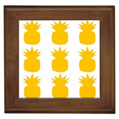 Fruit Pineapple Printable Orange Yellow Framed Tiles by Alisyart