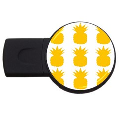 Fruit Pineapple Printable Orange Yellow Usb Flash Drive Round (2 Gb) by Alisyart