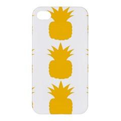 Fruit Pineapple Printable Orange Yellow Apple Iphone 4/4s Premium Hardshell Case by Alisyart
