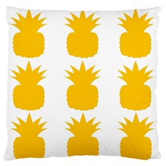 Fruit Pineapple Printable Orange Yellow Large Flano Cushion Case (one Side) by Alisyart