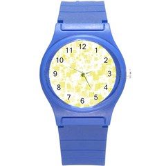 Pattern Round Plastic Sport Watch (s) by Valentinaart