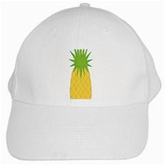 Fruit Pineapple Yellow Green White Cap by Alisyart