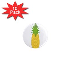 Fruit Pineapple Yellow Green 1  Mini Magnet (10 Pack)  by Alisyart