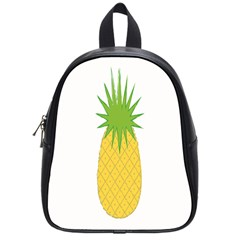 Fruit Pineapple Yellow Green School Bags (small)  by Alisyart