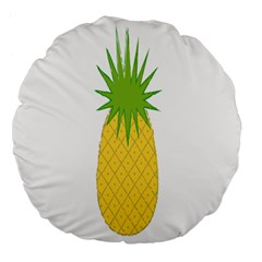 Fruit Pineapple Yellow Green Large 18  Premium Round Cushions by Alisyart