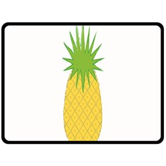Fruit Pineapple Yellow Green Double Sided Fleece Blanket (large)  by Alisyart
