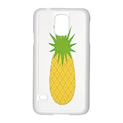 Fruit Pineapple Yellow Green Samsung Galaxy S5 Case (white) by Alisyart