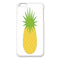 Fruit Pineapple Yellow Green Apple Iphone 6 Plus/6s Plus Enamel White Case by Alisyart