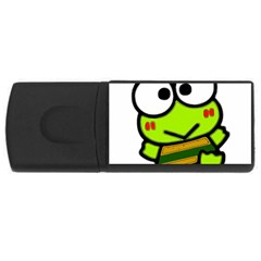 Frog Green Big Eye Face Smile Usb Flash Drive Rectangular (4 Gb) by Alisyart