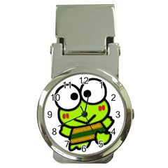 Frog Green Big Eye Face Smile Money Clip Watches by Alisyart