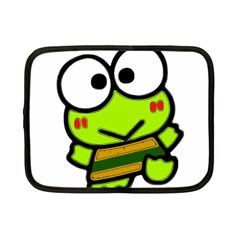 Frog Green Big Eye Face Smile Netbook Case (small)  by Alisyart