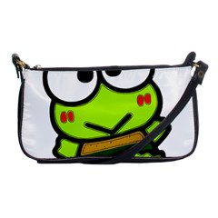 Frog Green Big Eye Face Smile Shoulder Clutch Bags by Alisyart