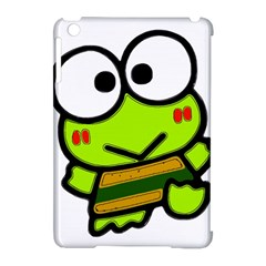Frog Green Big Eye Face Smile Apple Ipad Mini Hardshell Case (compatible With Smart Cover) by Alisyart